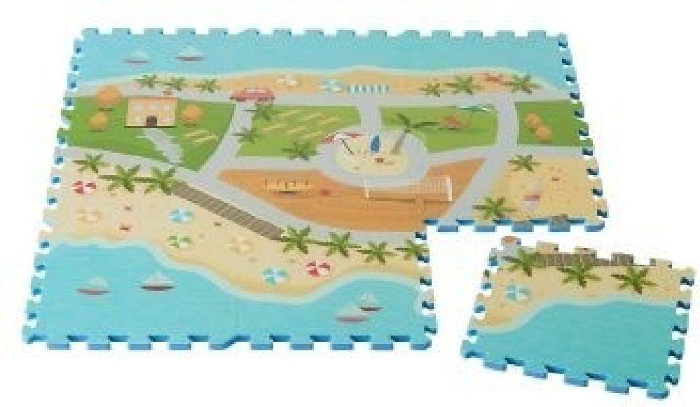 Foam Mats Printed Beach Road Map 9 Piece Set image 1