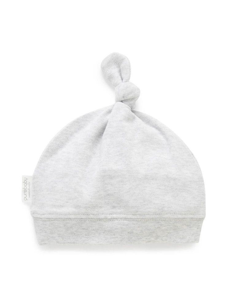 Purebaby Knot Hat Grey Melange image 0