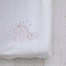Bubba Blue Unicorn Magic Change Pad Cover