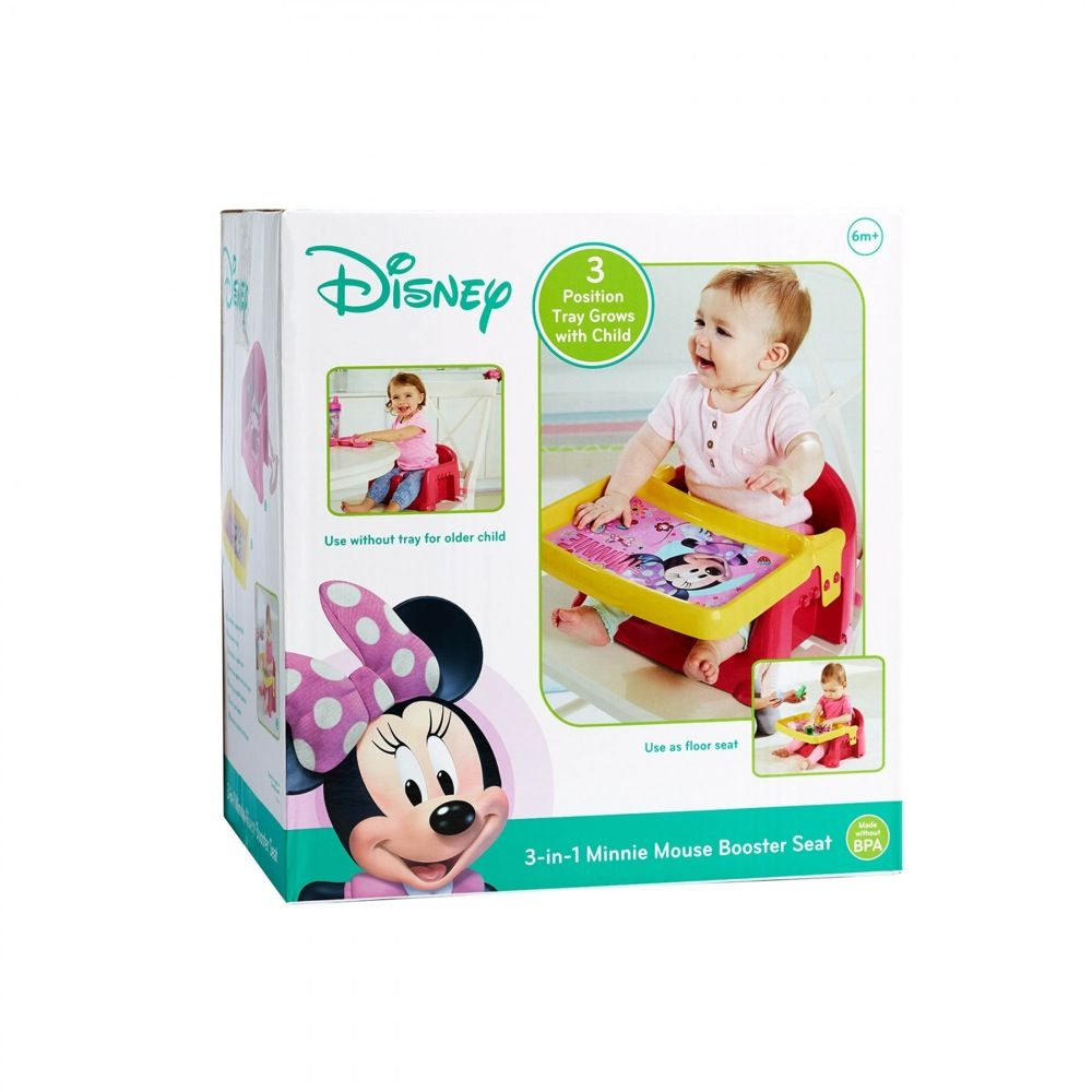First Years Minnie Mouse 3 In 1 Feeding Booster Seat image 1