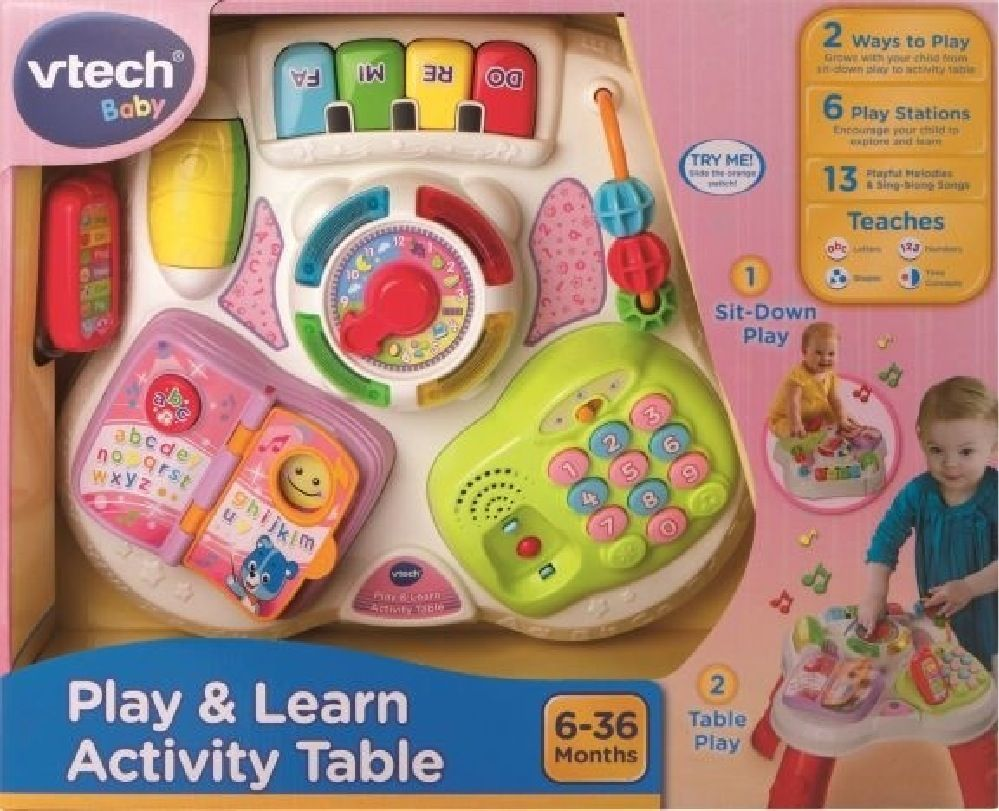 Vtech Play & Learn Activity Table Pink image 1