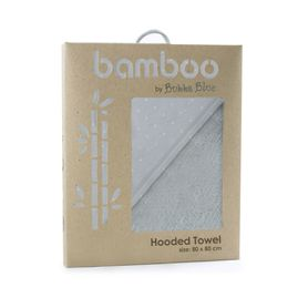 Bubba Blue Grey Bamboo Hooded Towel