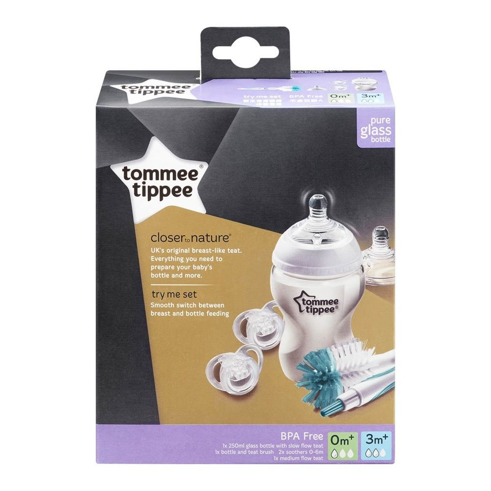 Tommee Tippee Closer To Nature Glass Bottle Try Me Set image 1