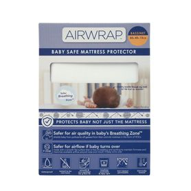 Airwrap Baby Safe Mattress Protector Bassinet White