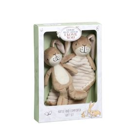 Guess How Much I Love You Rattle & Comforter Gift Set