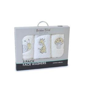Bubba Blue Playtime Wash Cloth Vanilla 3 Pack