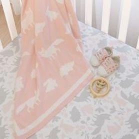 Lolli Living Forest Friends Pram Knit Blanket
