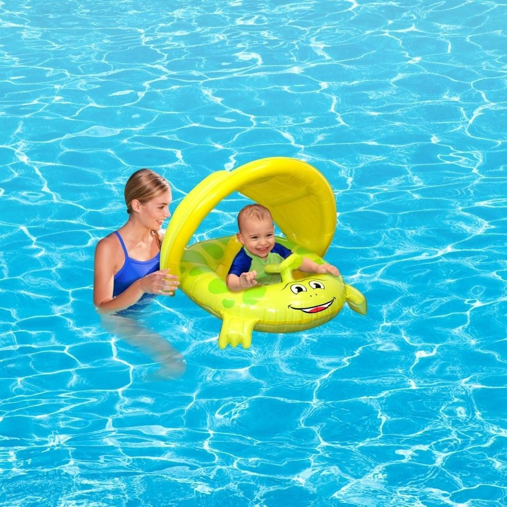 Beach Club Froggy Baby Seat With UV Canopy image 1