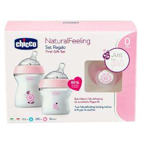 Chicco Natural Feeling Gift Set Girl