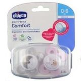 Chicco Physio Comfort Soother 0-6 Months 2 Pack Pink image 1