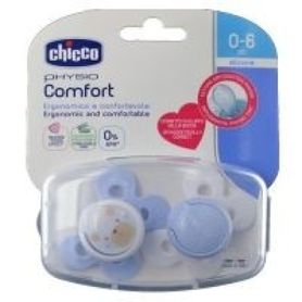 Chicco Physio Comfort Soother 0-6 Months 2 Pack Blue