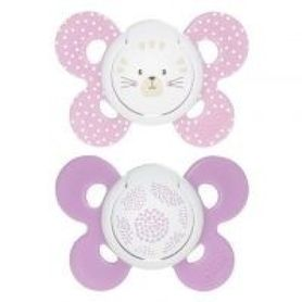 Chicco Physio Comfort Soother 6-16 Months 2 Pack Pink