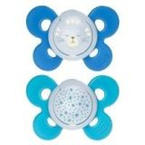 Chicco Physio Comfort Soother 16-36 Months 2 Pack Blue image 0