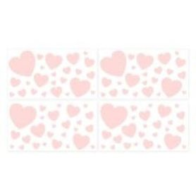 4Baby Wall Decal Hearts 4 Pack