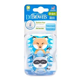 Dr Browns Prevent Printed Soother Stage 1 Boy 2 Pack