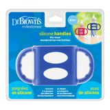 Dr Browns Narrow Neck Silicone Handles Blue image 1