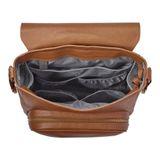 JJ Cole Nappy Bag Backpack Brookmont Cognac Brown Vegan Leather image 5