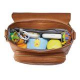 JJ Cole Nappy Bag Backpack Brookmont Cognac Brown Vegan Leather image 7