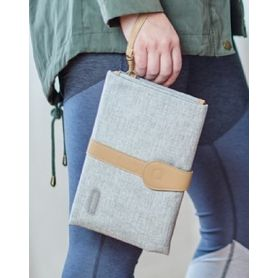 JJ Cole Changing Clutch Grey with Tan Strap