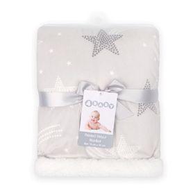 4Baby Velour Blanket Grey Star
