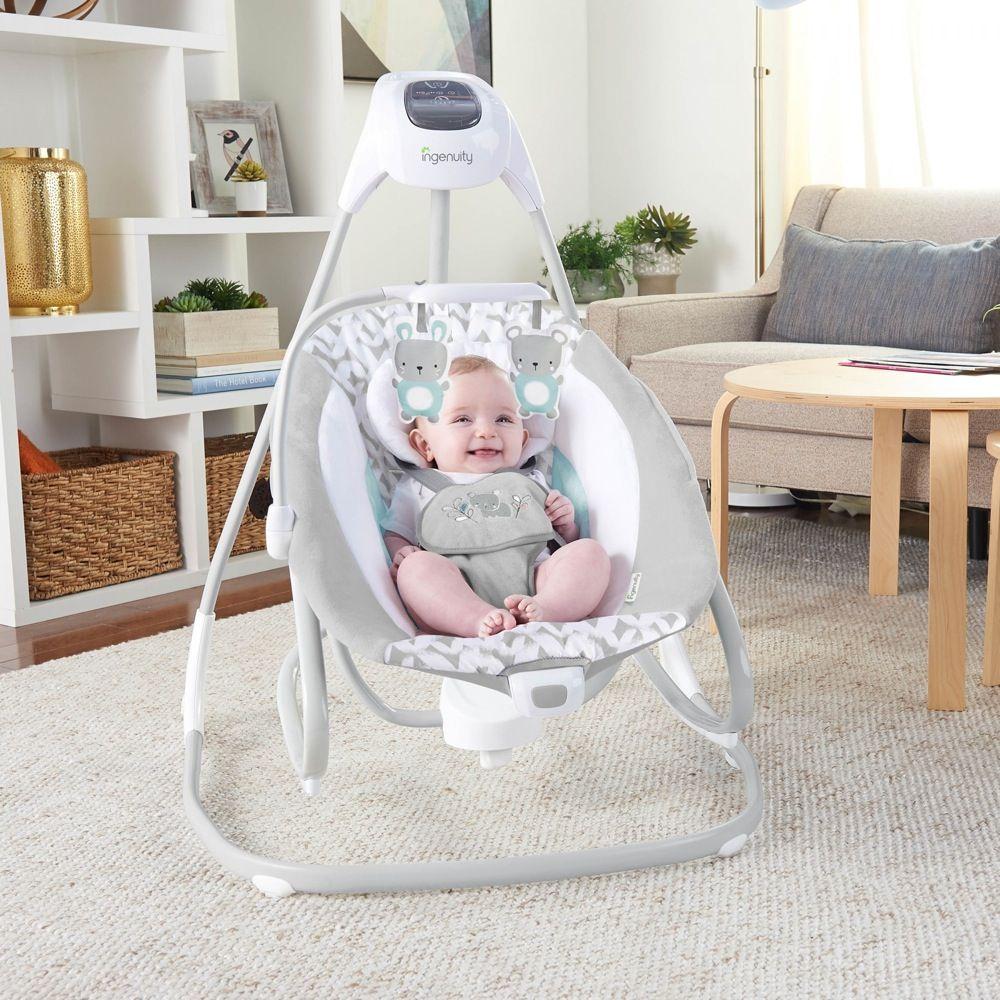 Ingenuity SimpleComfort Cradling Swing & Rocker Raylan image 10