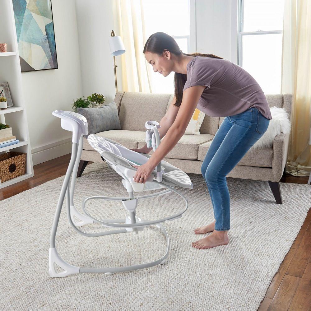 Ingenuity SimpleComfort Cradling Swing & Rocker Raylan image 4