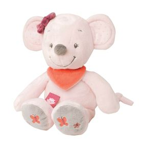 Nattou Cuddly Valentine The Mouse Pink/Grey