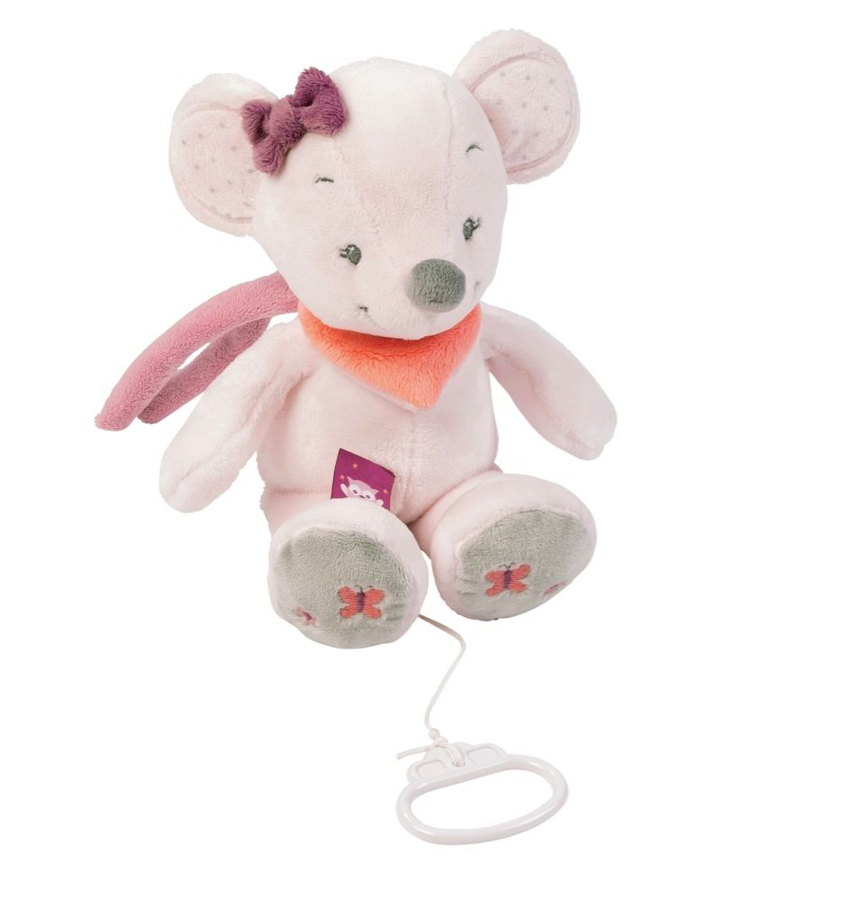 Nattou Musical Valentine The Mouse Pink/Grey image 0