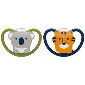 NUK Soother - Space - 6-18 Months - 2 Pack - Assorted