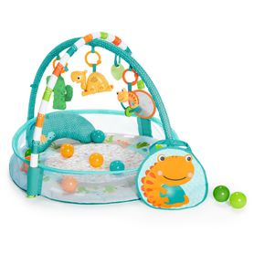 Bright Starts 4-In-1 Rounds Of Fun Activity Gym & Ball Pit Blue