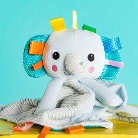Bright Starts Cuddle N' Tags Blankie Elephant
