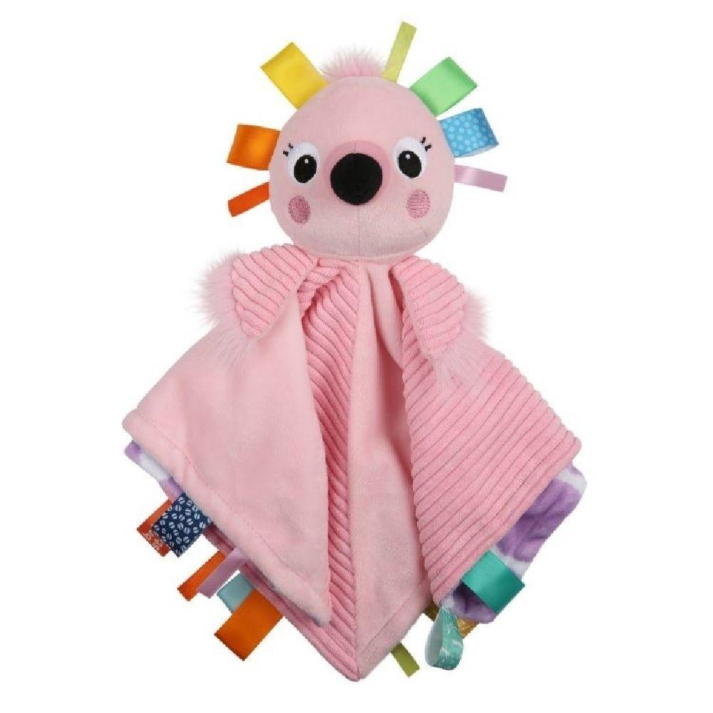 Bright Starts Cuddle N' Tags Blankie Flamingo image 0