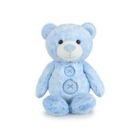 Korimco Patches Teddy Bear 28cm Blue