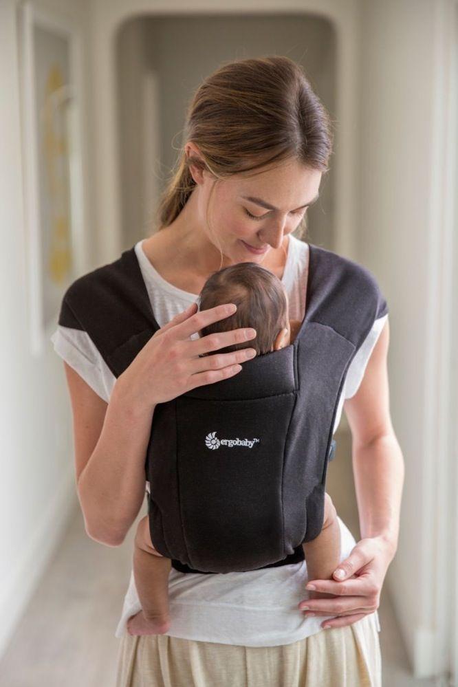 Ergobaby Embrace Cozy Newborn Carrier Pure Black