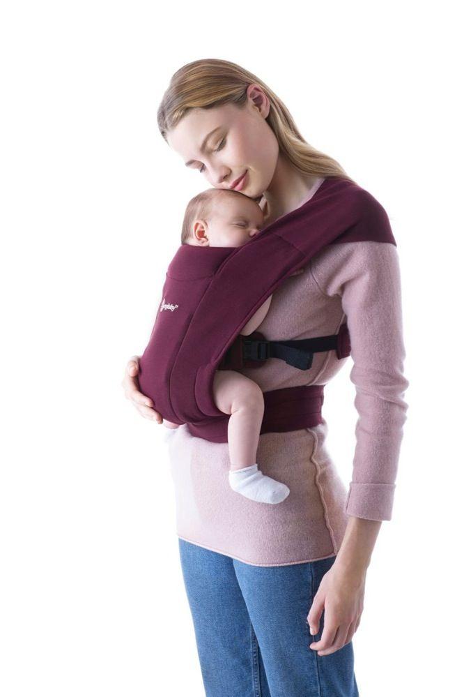 Ergobaby Embrace Cozy Newborn Carrier Burgundy image 10
