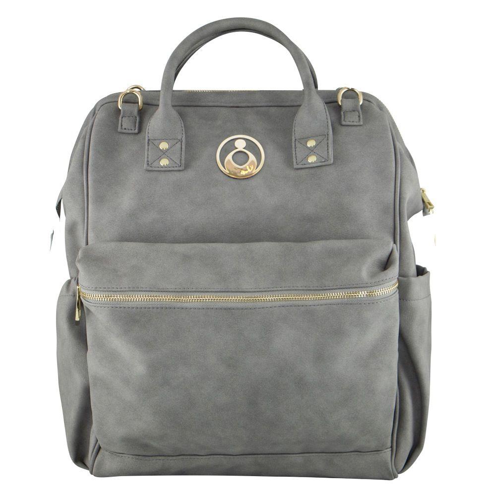 Isoki Byron Backpack Nappy Bag - Stone Grey