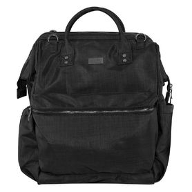Isoki Byron Backpack Nappy Bag - Black Nylon