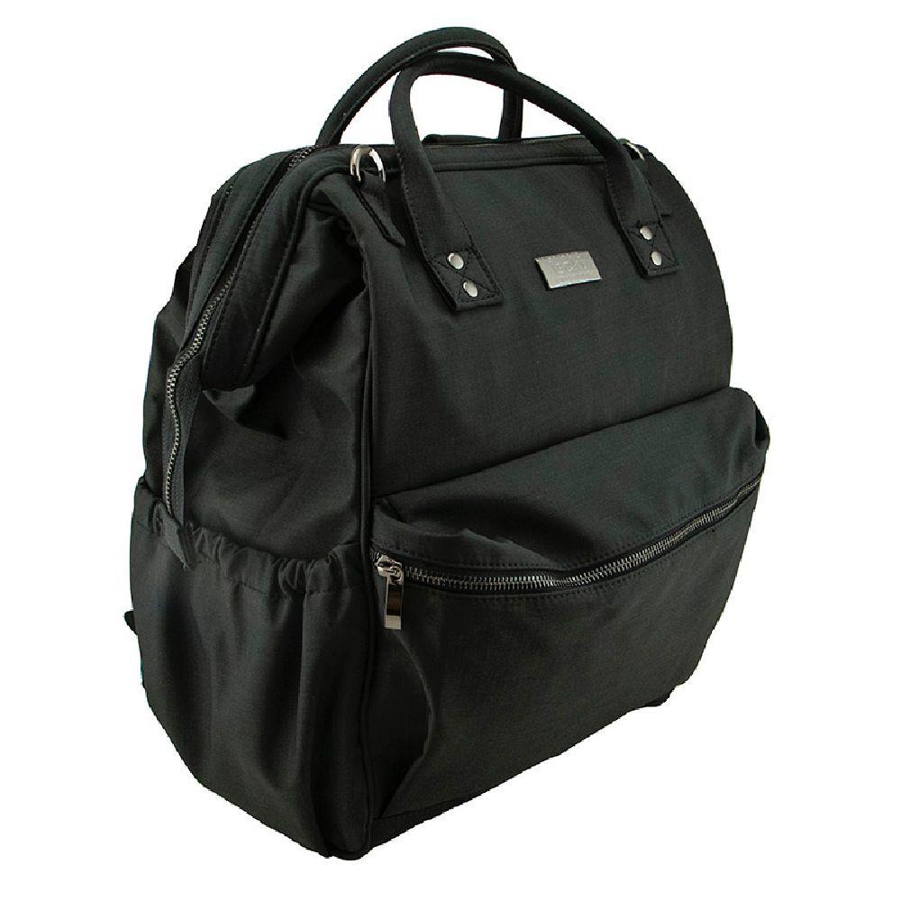 Isoki Byron Backpack Nappy Bag - Black Nylon image 1