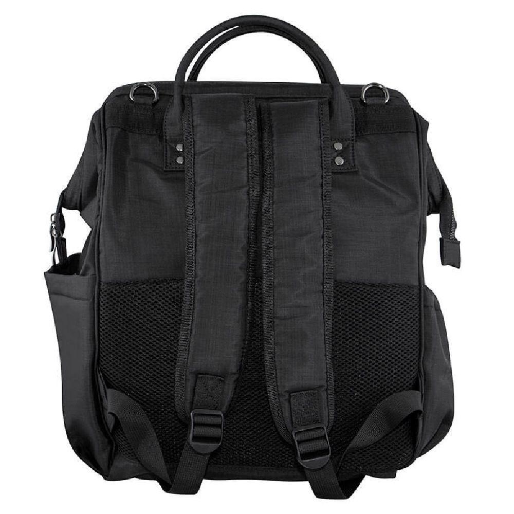 Isoki Byron Backpack Nappy Bag - Black Nylon image 2