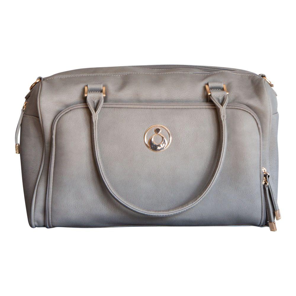 Isoki Double Zip Satchel Nappy Bag - Stone Grey