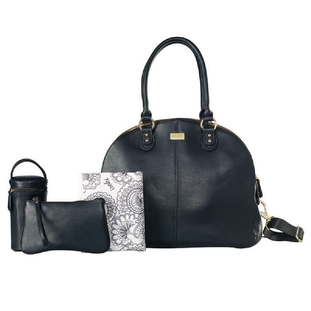 Isoki Madame Polly Nappy Bag - Toorak Black