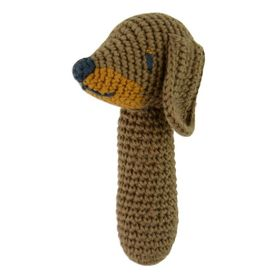 Weegoamigo Crochet Rattle Snags Sausage Dog