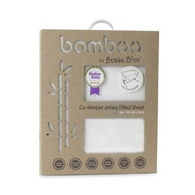 Bubba Blue Bamboo Jersey Fitted Sheet Co-Sleeper White