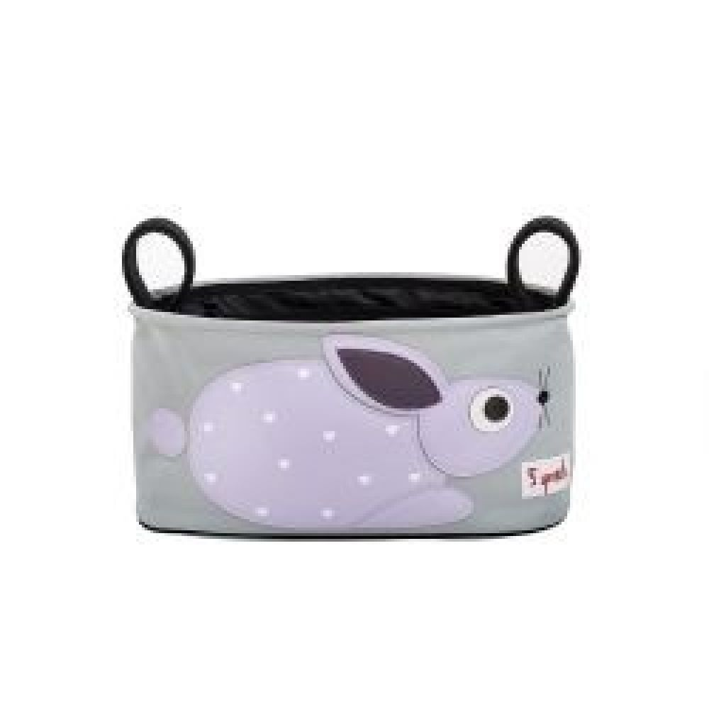 3Sprouts Pram Caddy - Rabbit