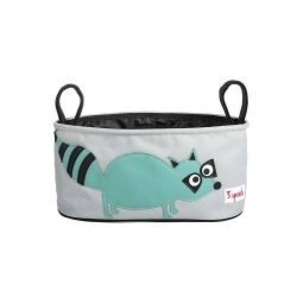3Sprouts Pram Caddy - Raccoon