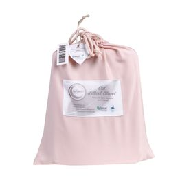 Bambi Baby Tencel Cot Fitted Sheet Blush