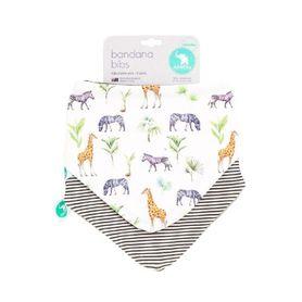 All4Ella Bandana Bib- Safari - 2Pack