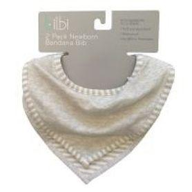 Bilbi Newborn Bandana Bib - Melange Grey - 2 Pack
