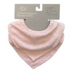 Bilbi Newborn Bandana Bib - Melange Pink - 2 Pack