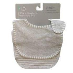 Bilbi Newborn Reversible Bib - Melange Grey - 2 Pack